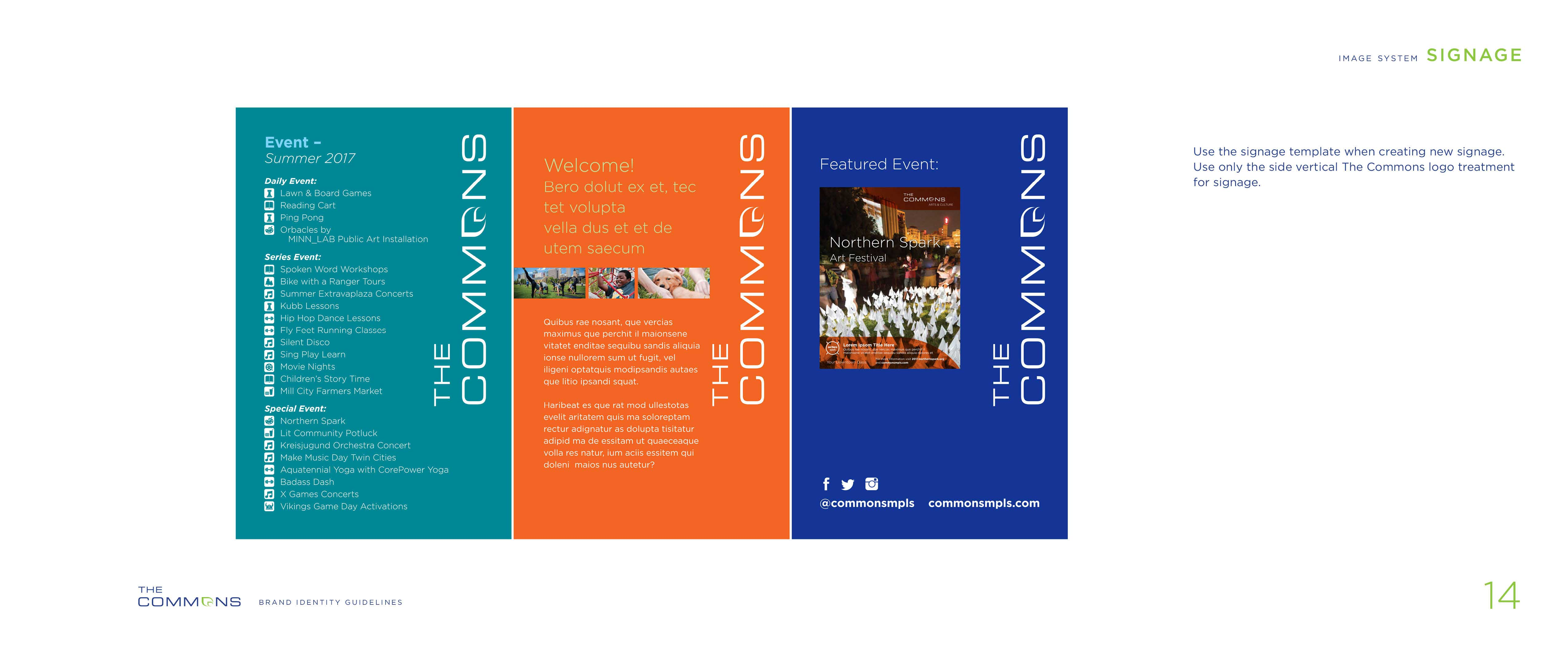Brand guidelines for The Commons
