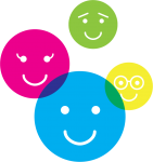 illustration of 4 smiley faces