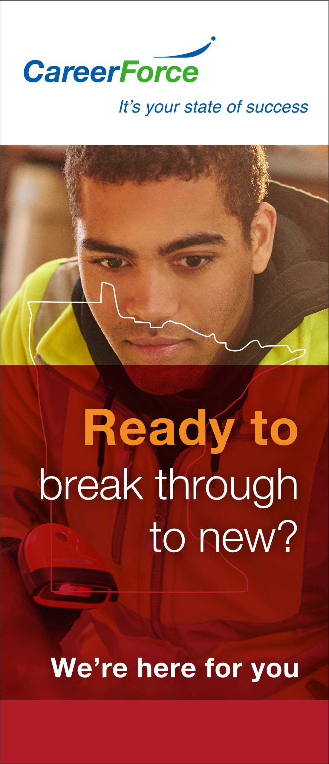 Brochure with headline: Ready to break through to new?