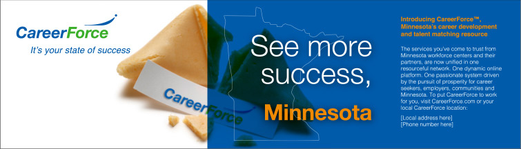 Newspaper ad with title: See more success, Minnesota