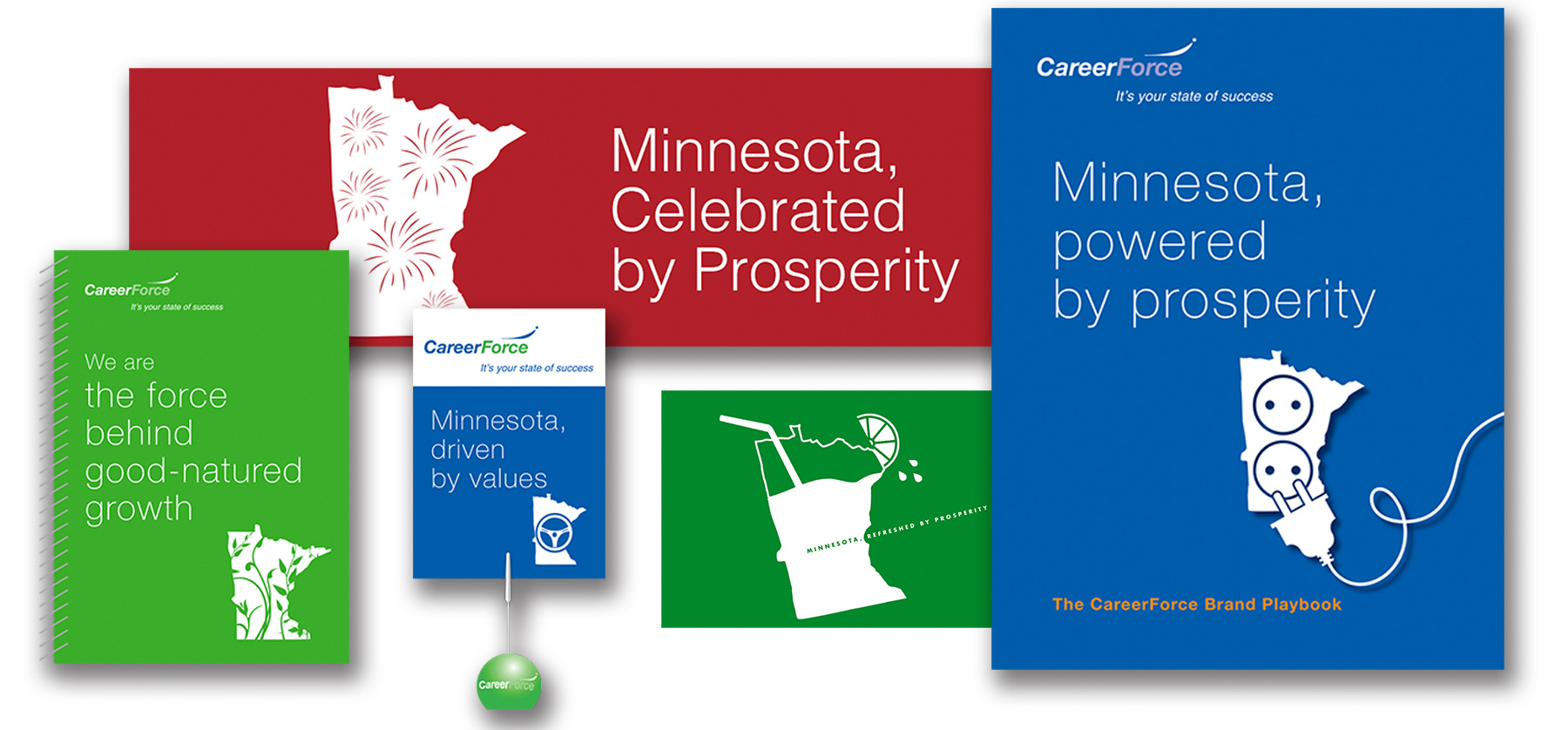 A selection of internal CareerForce materials, booklets and literature
