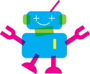 illustration of a smiling robot